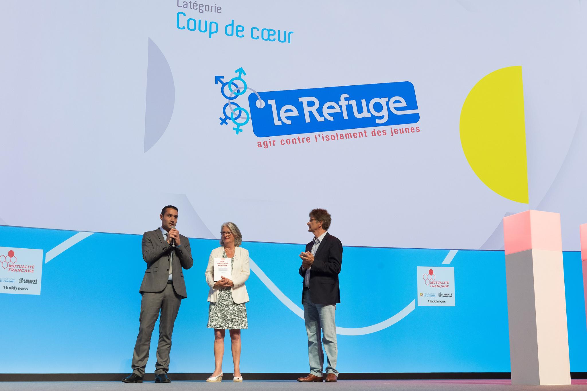Prix Coup de cœur du congrès : l'association Le Refuge primée par le public