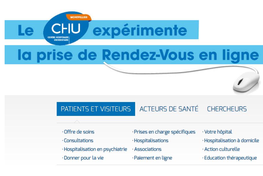 Le CHU de Montpellier teste Doctolib